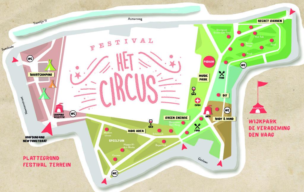 Plattegrond Festival Het Circus 2018